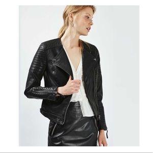 Top Shop Moto Faux Leather Jacket